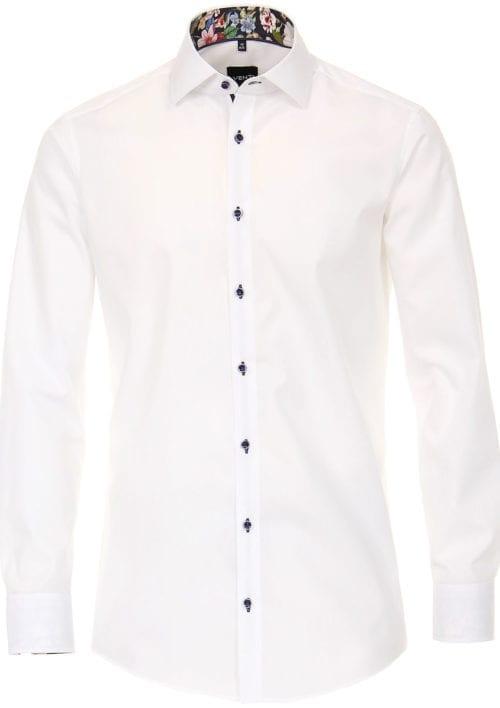 Venti overhemd wit met bloemen motief modern fit met kent kraag 103494800-000 (2)