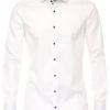 Venti overhemd wit met motief in de kraag body fit met cute away boord 103522800-000 (2)