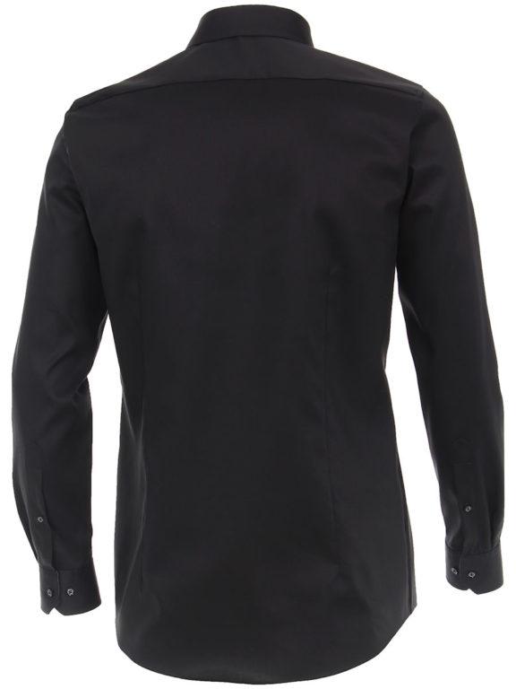 Venti overhemd zwart met motief in de kraag body fit met cute away boord 103522600-800 (2)