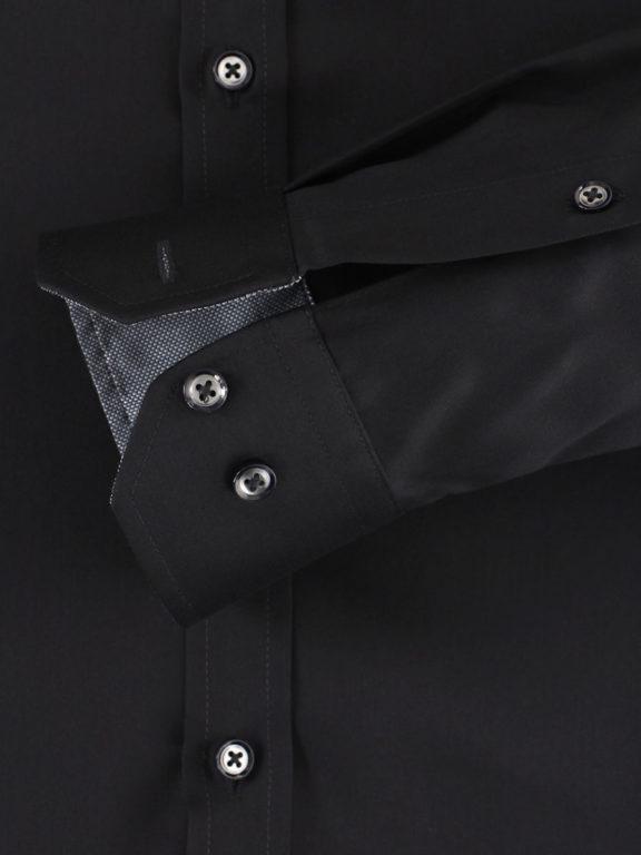 Venti overhemd zwart met motief in de kraag body fit met cute away boord 103522600-800 (4)