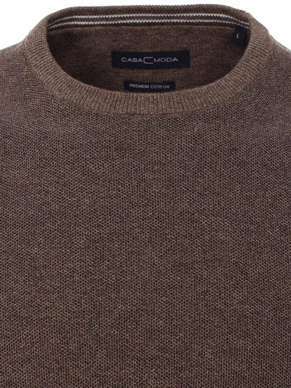 CasaModa ronde hals trui bruin premium katoen Bendelli officieel verkooppunt 403469600-624 (3)