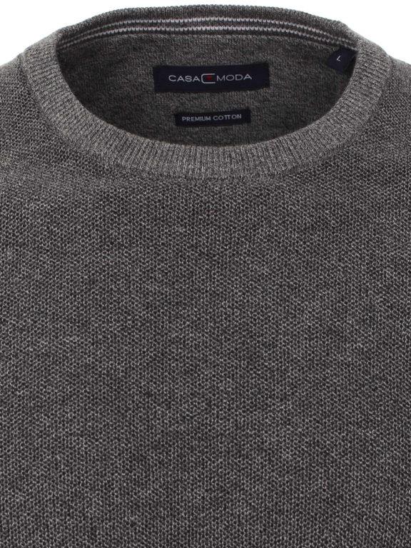 CasaModa ronde hals trui grijs premium katoen Bendelli officieel verkooppunt 403469600-782 (2)