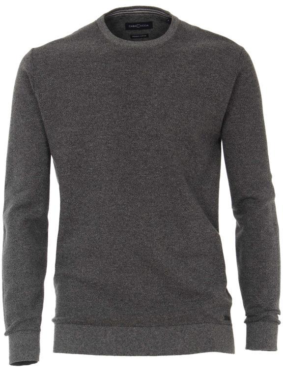 CasaModa ronde hals trui grijs premium katoen Bendelli officieel verkooppunt 403469600-782 (3)