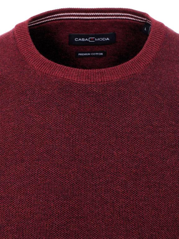 CasaModa ronde hals trui warm rood premium katoen403469600-416-2 Bendelli officieel verkooppunt (1)