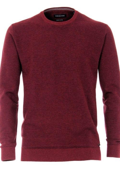 CasaModa ronde hals trui warm rood premium katoen403469600-416-2 Bendelli officieel verkooppunt (2)