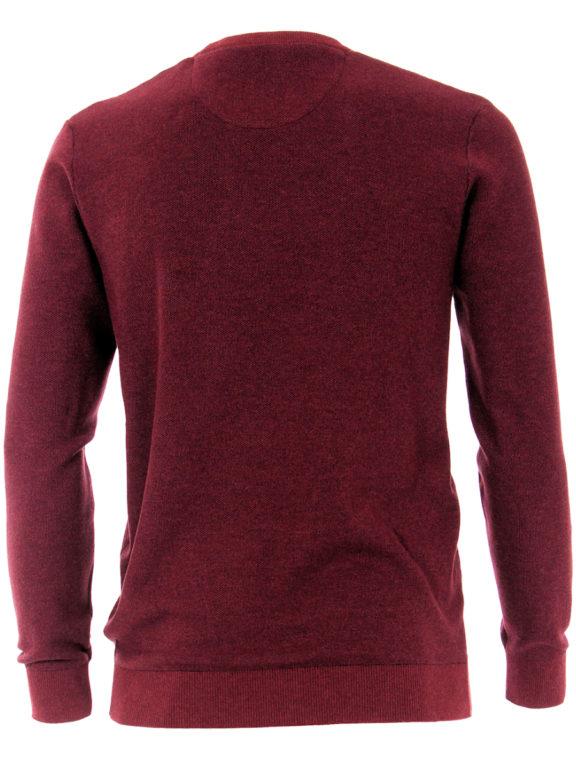 CasaModa ronde hals trui warm rood premium katoen403469600-416-2 Bendelli officieel verkooppunt (3)