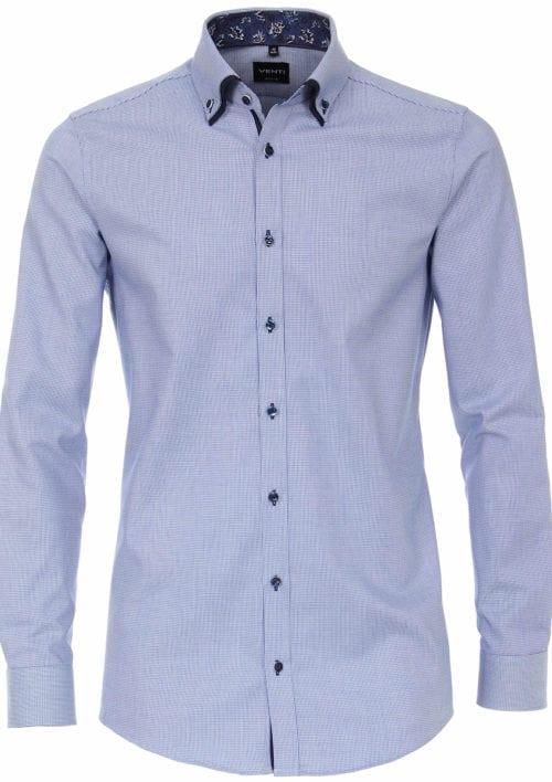 Venti overhemd dubbele boord Blauw met motief 103500100-100 Bendelli officieel Verkooppunt (2)