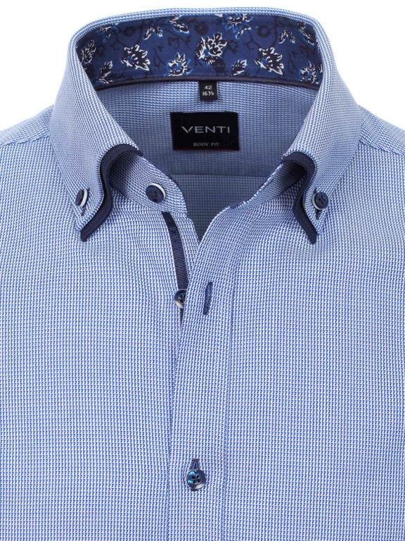 Venti overhemd dubbele boord Blauw met motief 103500100-100 Bendelli officieel Verkooppunt (4)