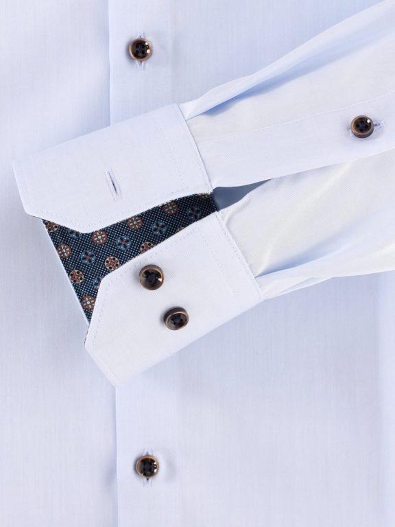 Venti overhemd dubbele boord Blauw strijkvrij Bendelli officieel Verkooppunt 103545300-102-3 (1)