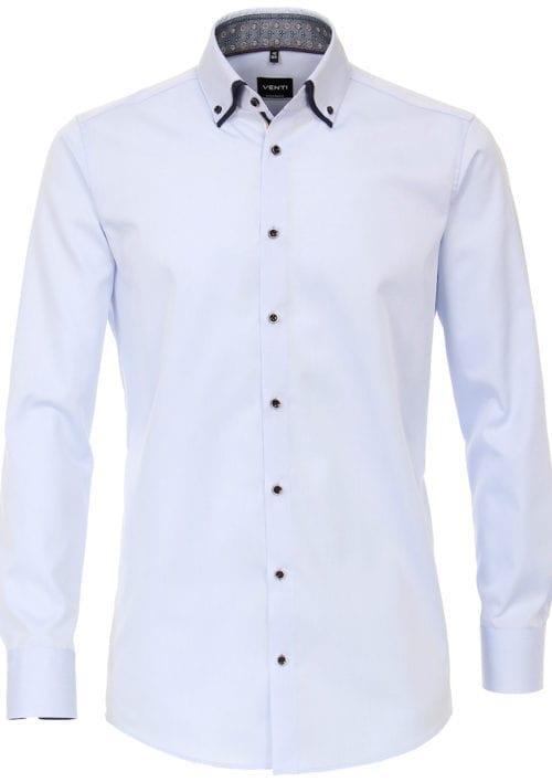 Venti overhemd dubbele boord Blauw strijkvrij Bendelli officieel Verkooppunt 103545300-102-3 (2)