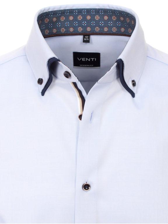 Venti overhemd dubbele boord Blauw strijkvrij Bendelli officieel Verkooppunt 103545300-102-3 (4)