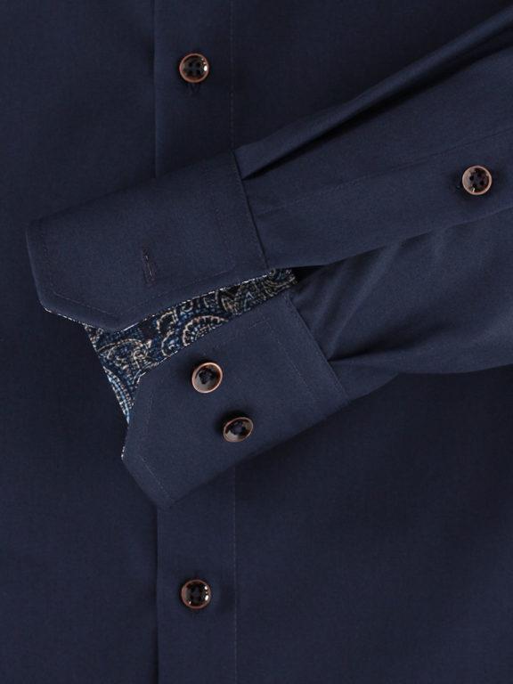 Venti overhemd effen blauw modern fit en kent boord 103497500-116 (1)