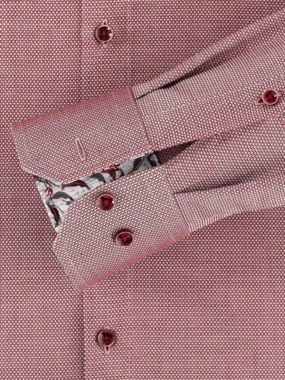 Venti overhemd rood met fijn gemeleerd motief modern fit en kent boord 103498200-400 (1)