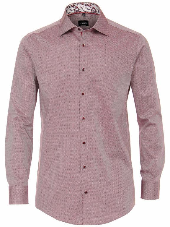 Venti overhemd rood met fijn gemeleerd motief modern fit en kent boord 103498200-400 (2)