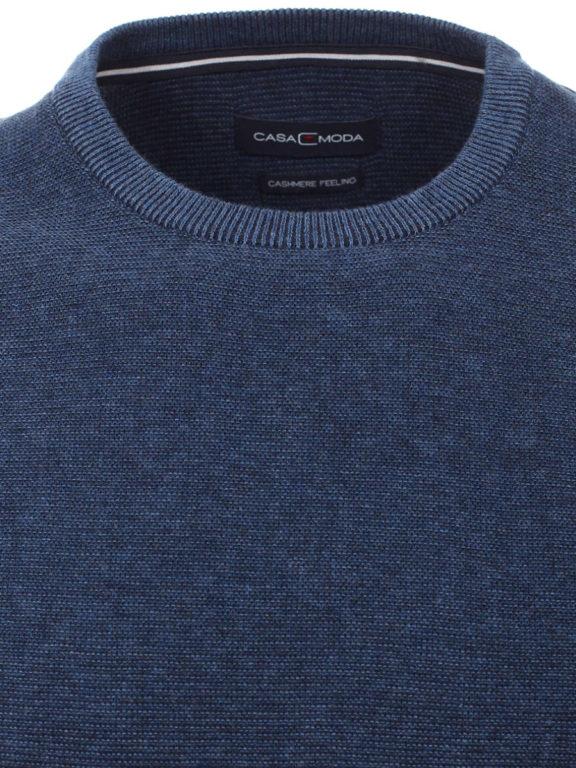 Casa Moda Trui met cashmere ronde hals blauw premium katoen 403480600-114 (2)