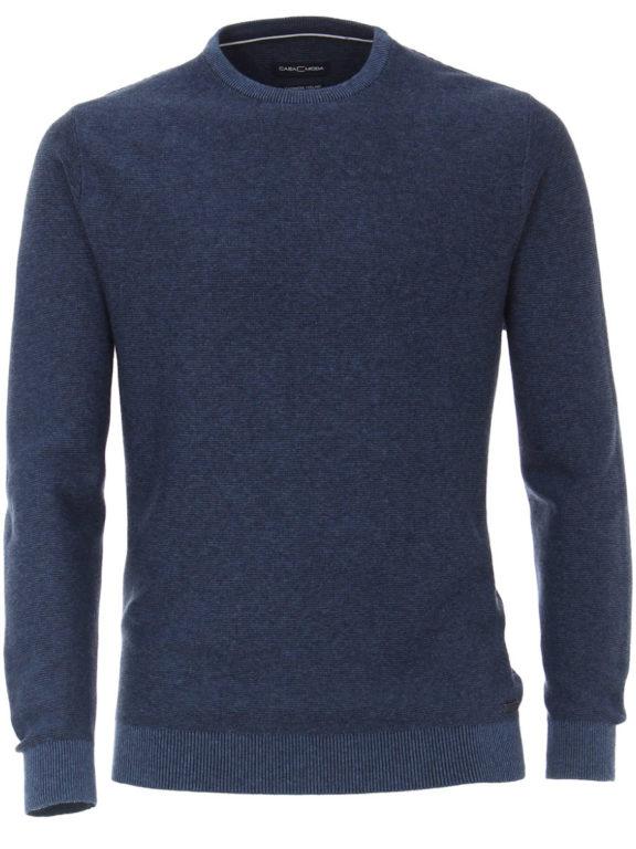 Casa Moda Trui met cashmere ronde hals blauw premium katoen 403480600-114 (3)