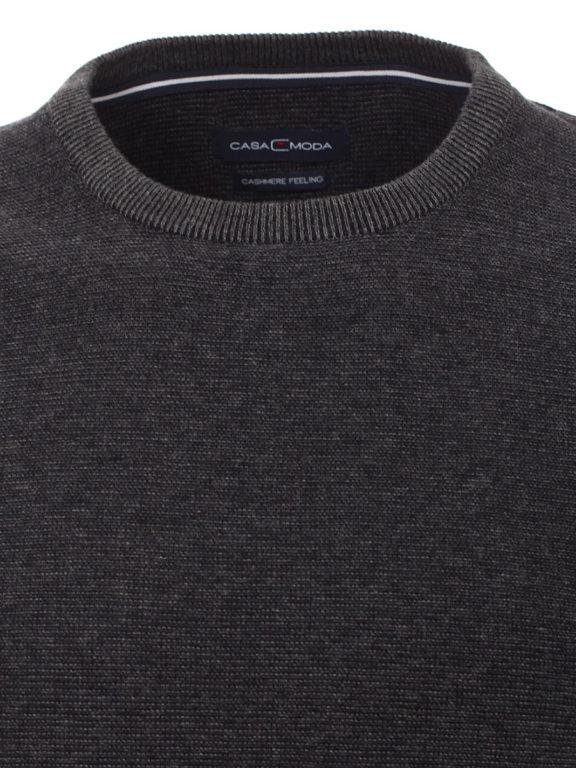 Casa Moda Trui met cashmere ronde hals grijs premium katoen 403480600-763 (4)