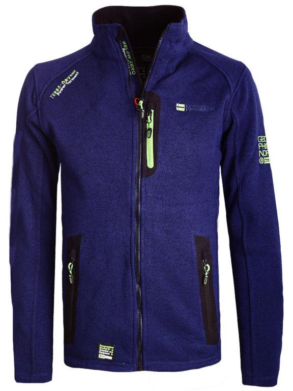 Fleece vest heren Blauw Geographical Norway sweater met rits Trampoline (2)