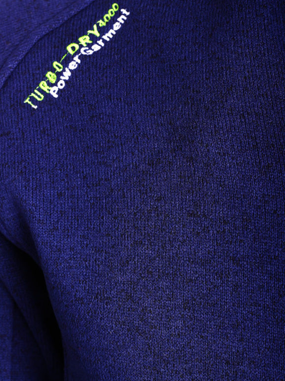Fleece vest heren Blauw Geographical Norway sweater met rits Trampoline (3)