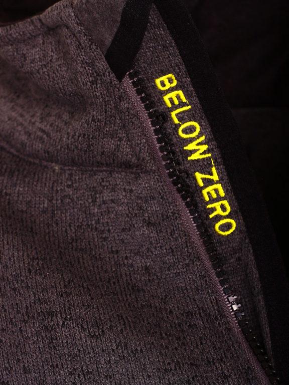 Fleece vest heren Grijs Geographical Norway sweater met rits Trampoline (4)