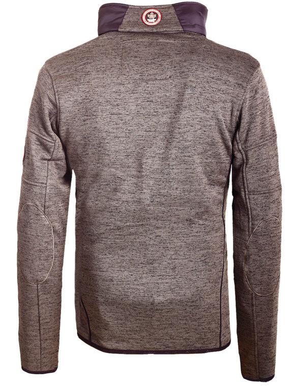 Fleece vest heren met rits Grijs met zwart Canadian Peak Tobiteak verkooppunt Bendelli (1)