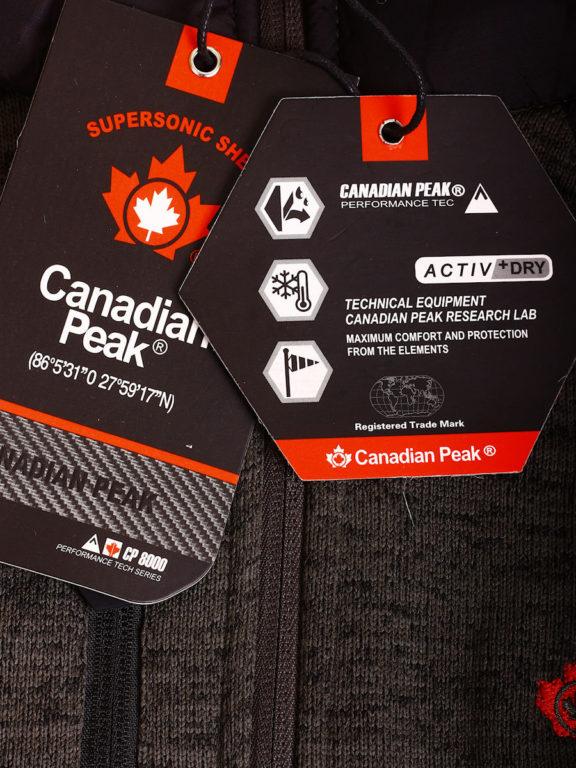 Fleece vest heren met rits Grijs met zwart Canadian Peak Tobiteak verkooppunt Bendelli (2)