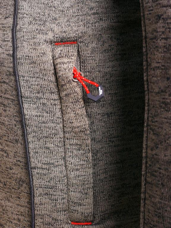 Fleece vest heren met rits Grijs met zwart Canadian Peak Tobiteak verkooppunt Bendelli (7)