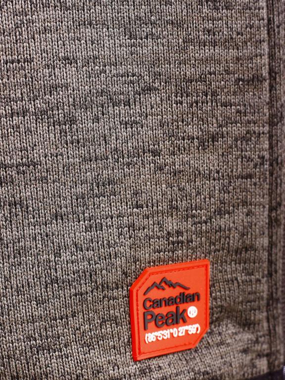 Fleece vest heren met rits Grijs met zwart Canadian Peak Tobiteak verkooppunt Bendelli (9)