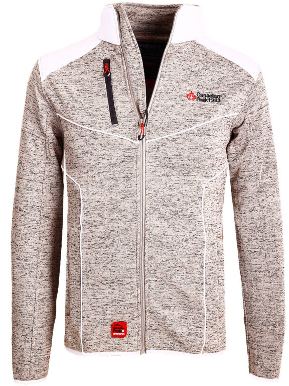 Fleece vest heren met rits grijs met wit Canadian Peak Tobiteak verkooppunt Bendelli (2)