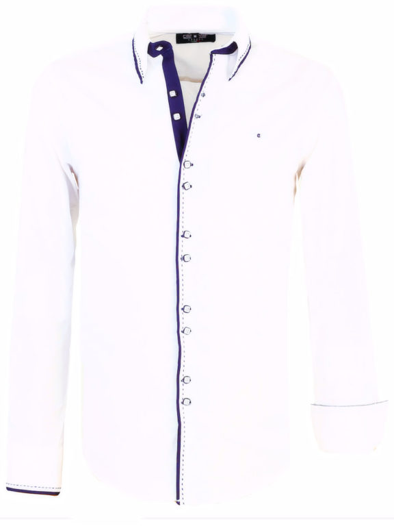 Heren-blouse-lange-mouw-vierkante-knoopjes-Carisma-8245-Wit (7)