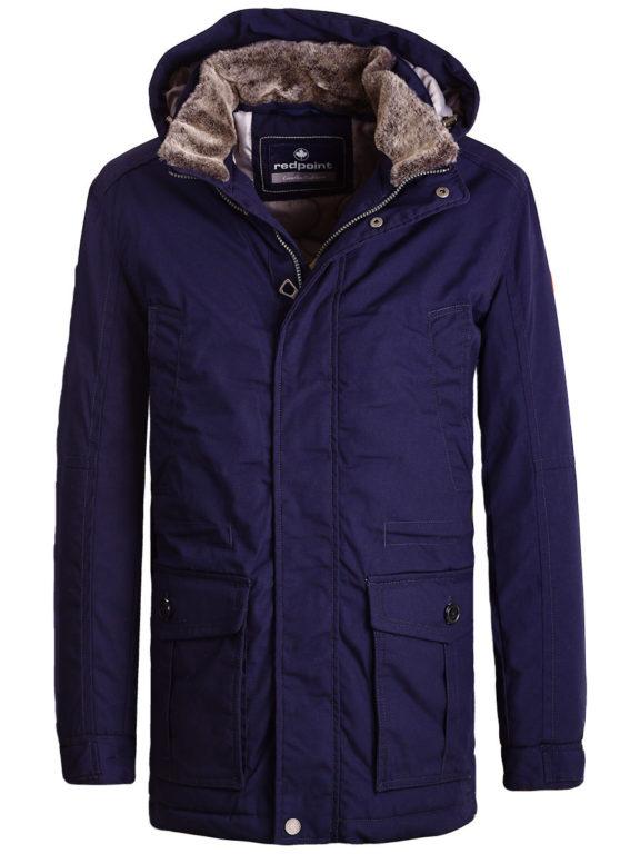 Redpoint jas heren blauw met afneembare capuchon Winter jack Eric (2)