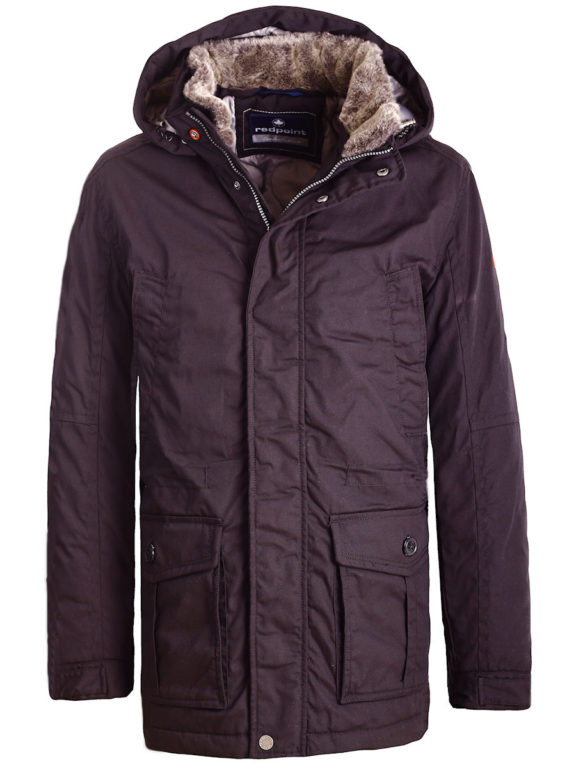 Redpoint jas heren zwart met afneembare capuchon Winterjack Eric (5)