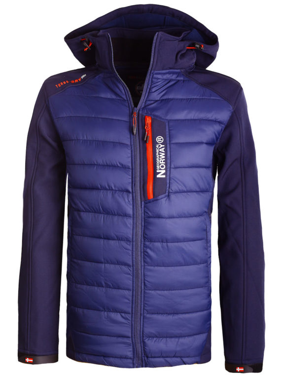 Softshell jas Geographical Norway blauw jas met capuchon Taxon (2)