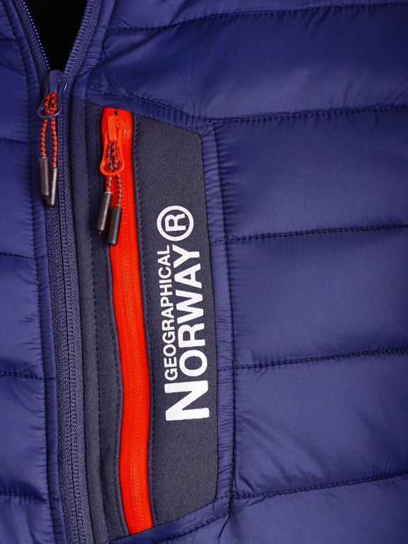 Softshell jas Geographical Norway blauw jas met capuchon Taxon (3)