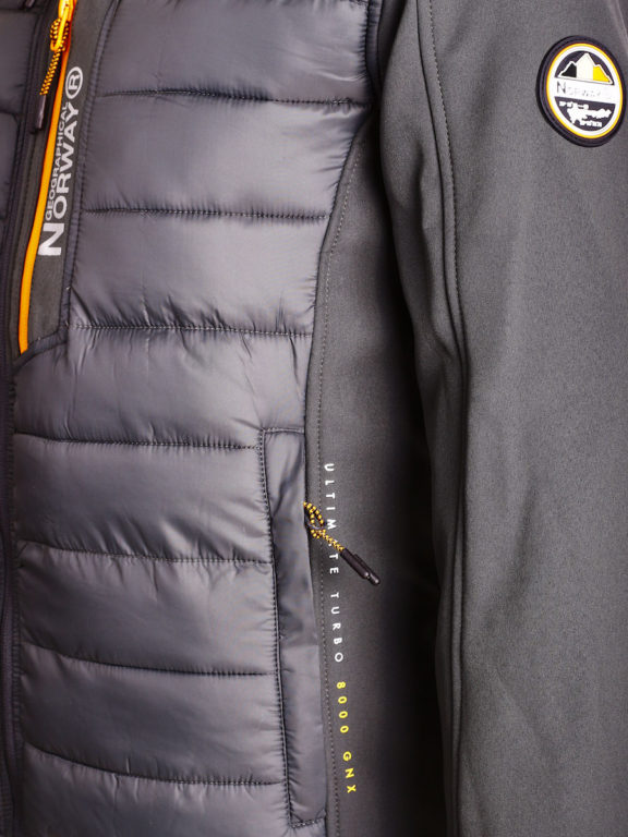 Softshell jas Geographical Norway grijs jas met capuchon Taxon (6)