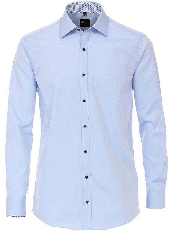 Venti overhemd blauw motief in de boord heren 183058700-115 (2)
