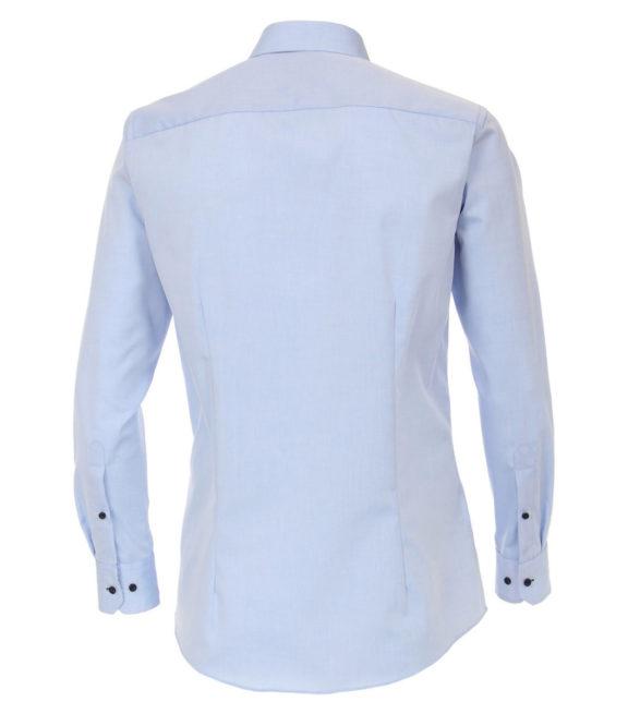 Venti overhemd blauw motief in de boord heren 183058700-115 (3)