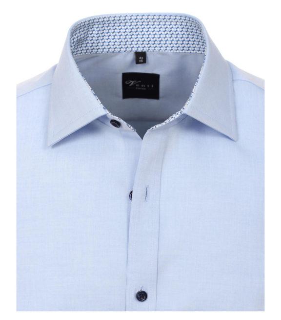 Venti overhemd blauw motief in de boord heren 183058700-115 (4)