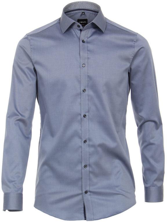 Venti overhemd blauw motief kent boord heren 103522600-100 (1)