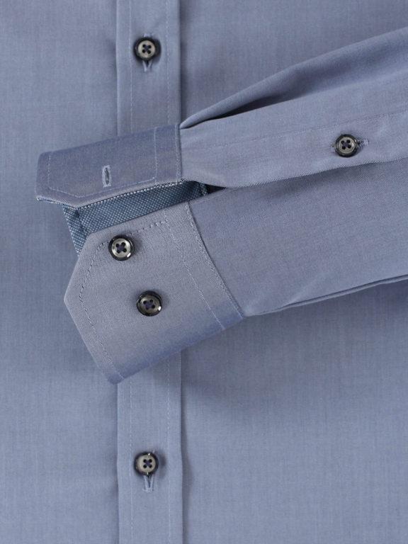 Venti overhemd blauw motief kent boord heren 103522600-100 (4)
