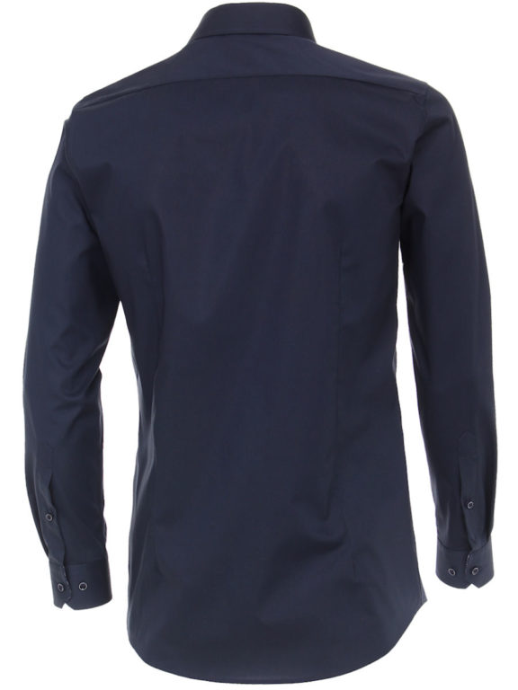 Venti overhemd blauw strijkvrij bodyfit of slimfit kent boord 103499900-116 (3)