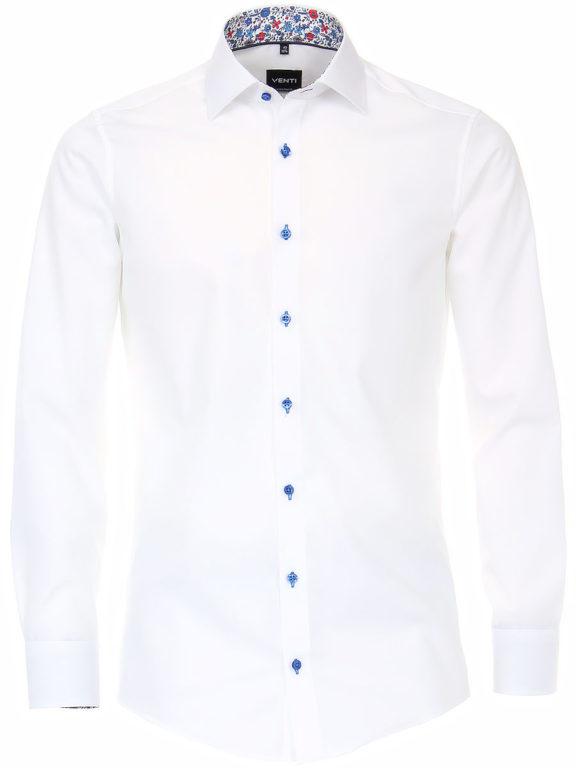 Venti overhemd wit bloemen boord heren 103458000-000 (2)