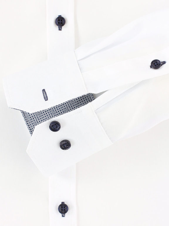 Venti overhemd wit dubbele kraag heren 193320500-001 (1)