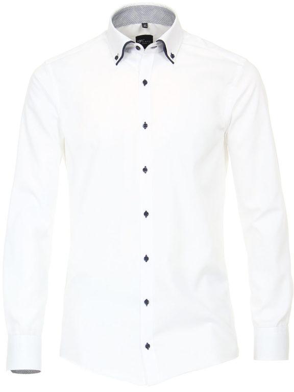 Venti overhemd wit dubbele kraag heren 193320500-001 (2)