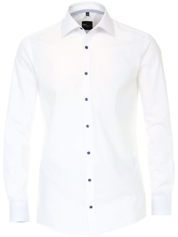 Venti overhemd wit kent boord heren 103454500-001 (2)