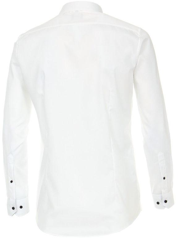 Venti overhemd wit kent boord met zwart motief heren 193295600-001 (3)