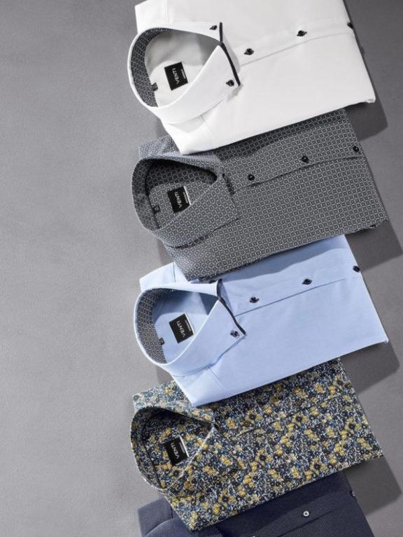 Venti overhemd wit met dubbele kraag 100 procent katoen