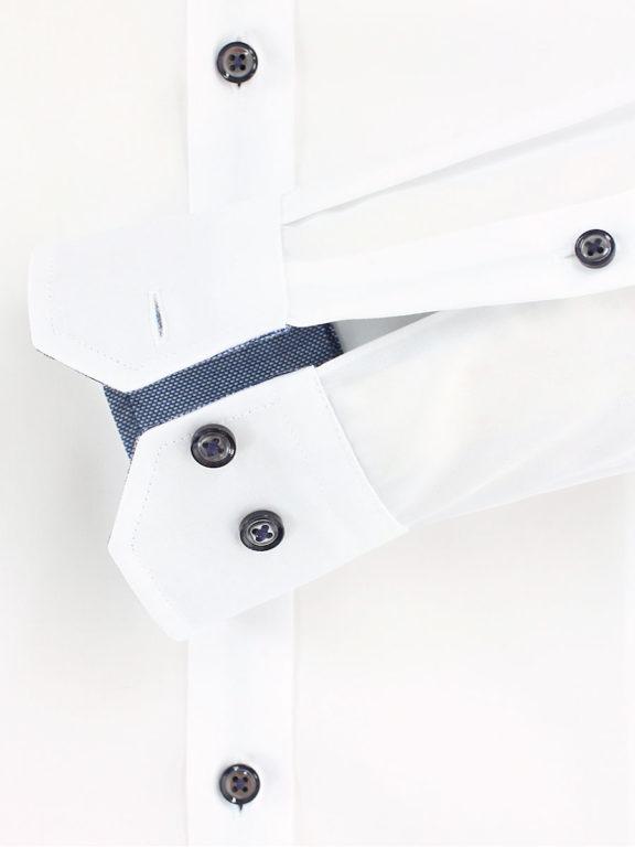Venti overhemd wit motief kent boord heren 103522600-000 (1)