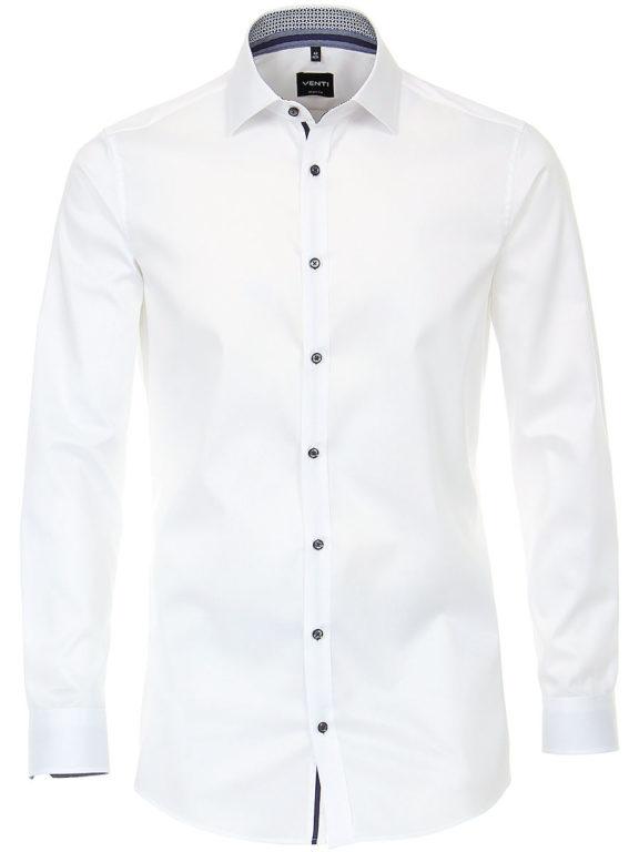 Venti overhemd wit motief kent boord heren 103522600-000 (2)