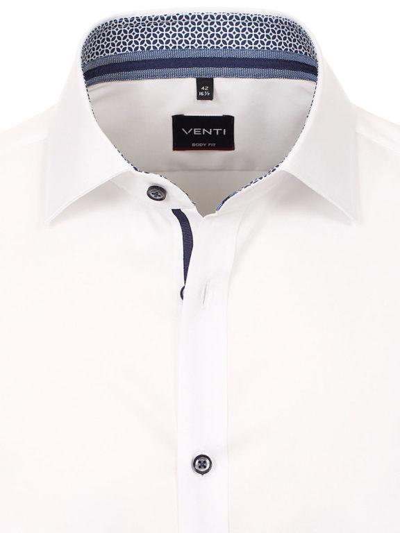 Venti overhemd wit motief kent boord heren 103522600-000 (4)